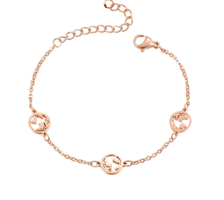 World Bracelet Rosé Gold - Pyrite Jewelry - [product_type]