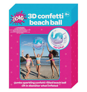 Narwal Confetti Beach Ball