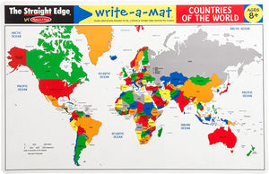 Countries of the World Write A Mat