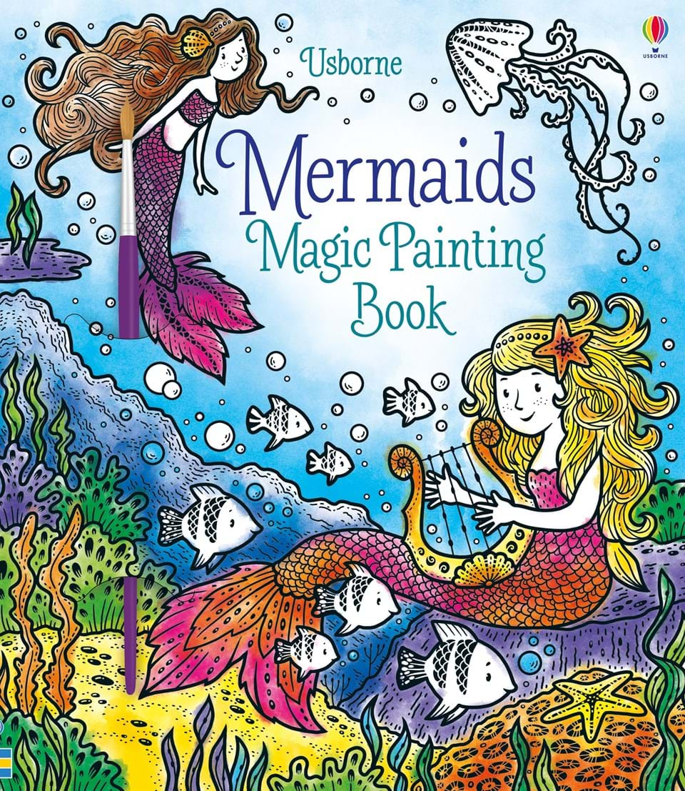 Magic Painting Book Mermaids