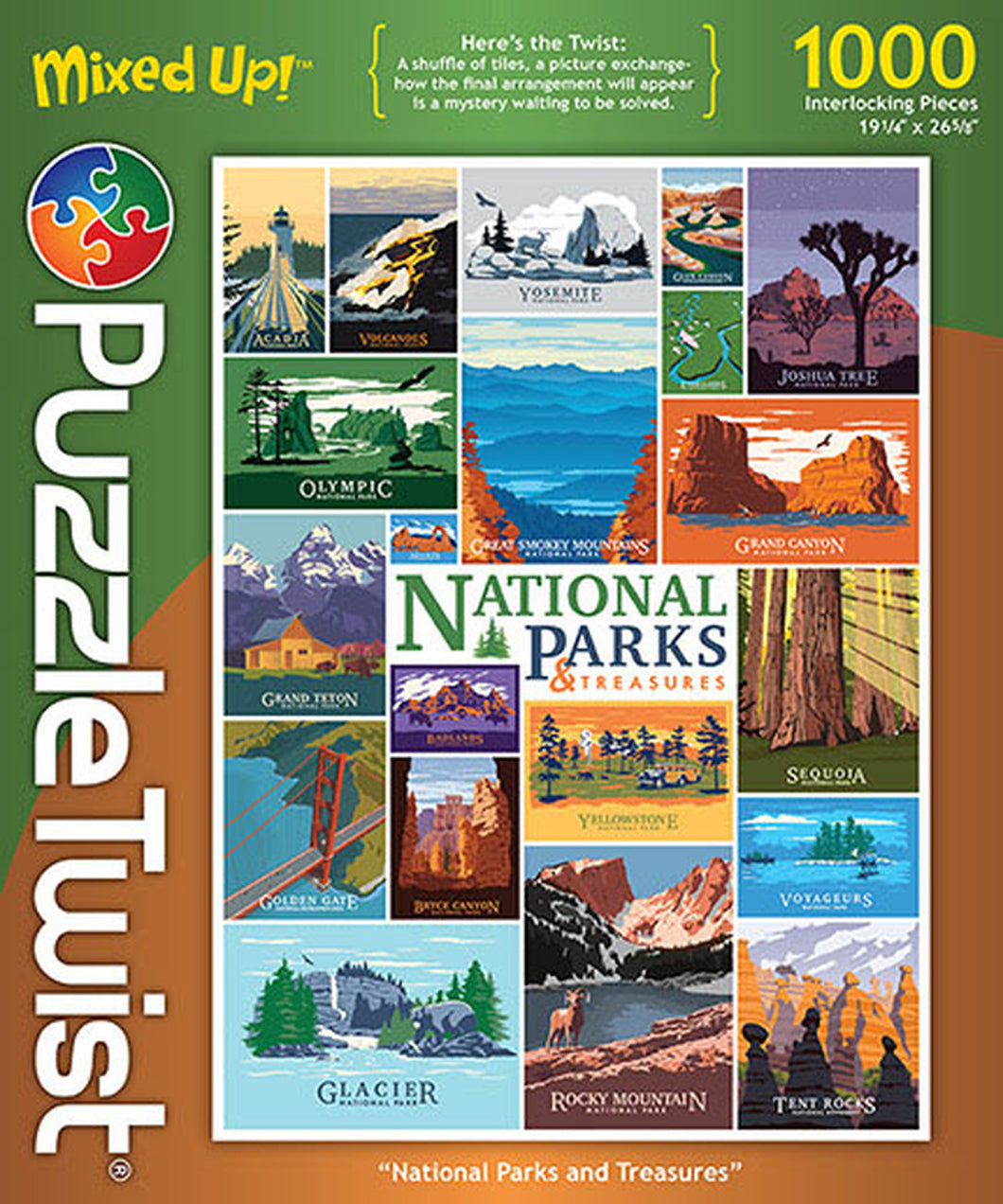 National Parks and Treasures 1000Pc