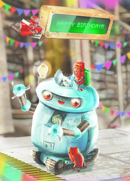 Pop 'n Play Birthday Robot