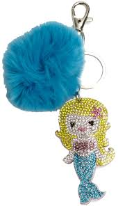 Mermaid Fur Ball Bag Charm