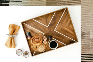 Walnut X Breakfast Tray