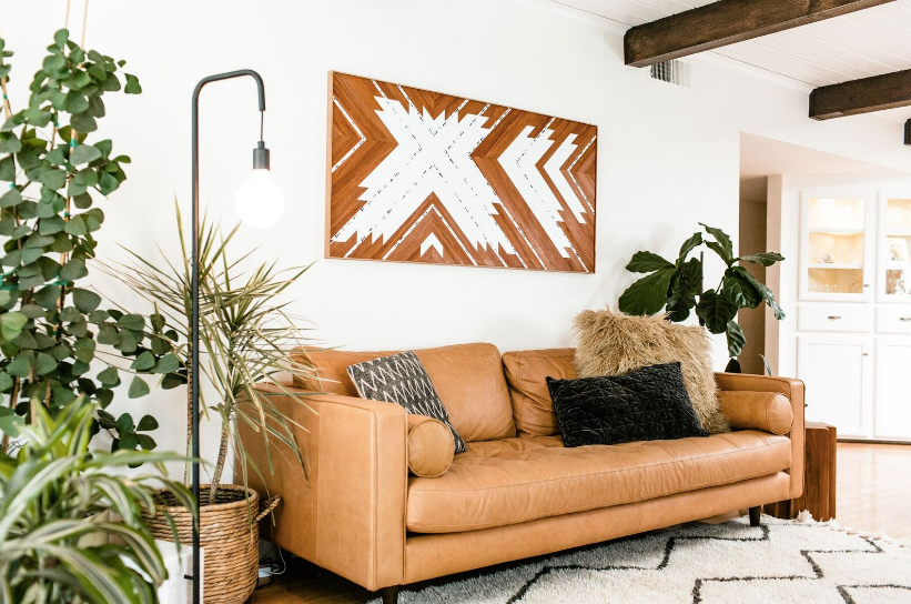 Asymmetrical Teak Wall Hanging