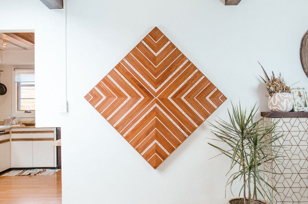 Diamond Teak Wall Hanging