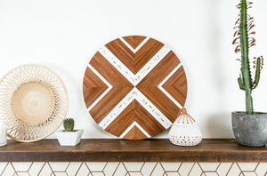 Teak + Peach Wall Hanging