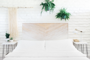 White Gradient Headboard