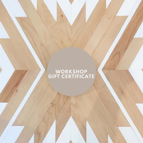 Workshop Gift Certificate