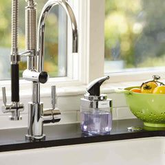 square push pump - lifestyle near kitchen faucet