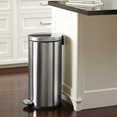 30L round step can - brushed finish - lifestyle in kitchen