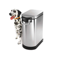 large pet food bin - lifestyle with dog image
