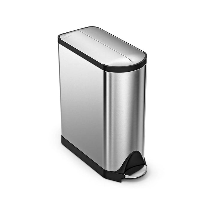 45L butterfly pedal bin - brushed finish - main image
