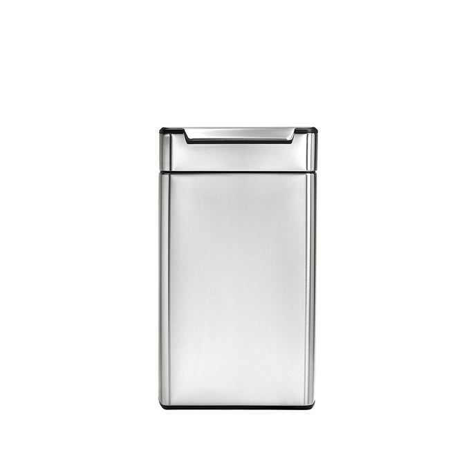 40 litre, rectangular touch-bar bin