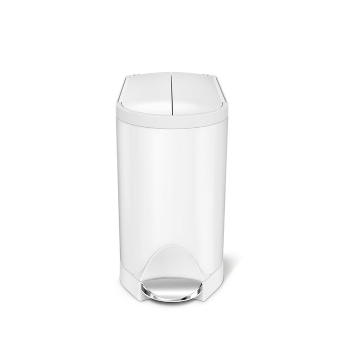 10L butterfly step can - white finish - main image