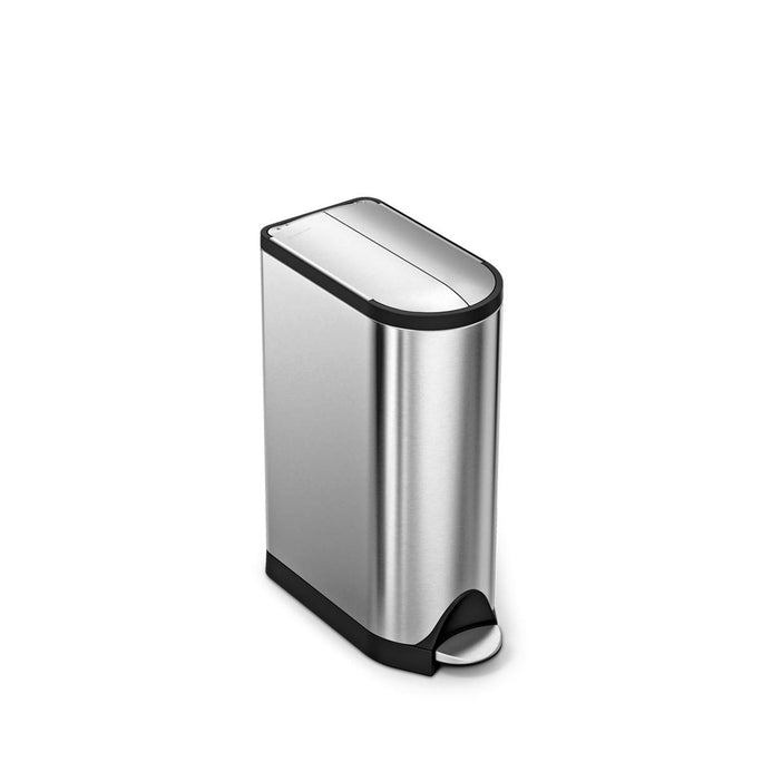 18L butterfly pedal bin - brushed finish - main image