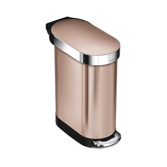 45L slim step can - rose gold stainless steel - main image