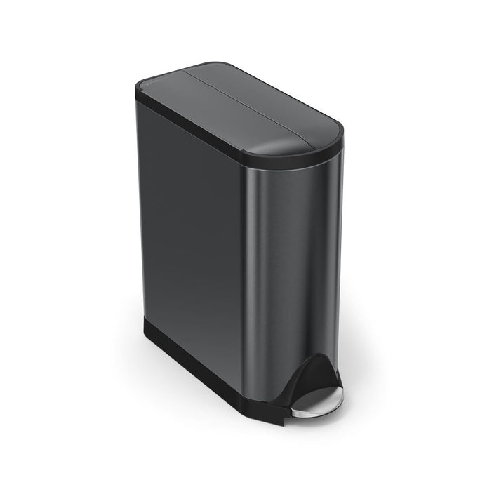 45L butterfly step can - black finish - main image