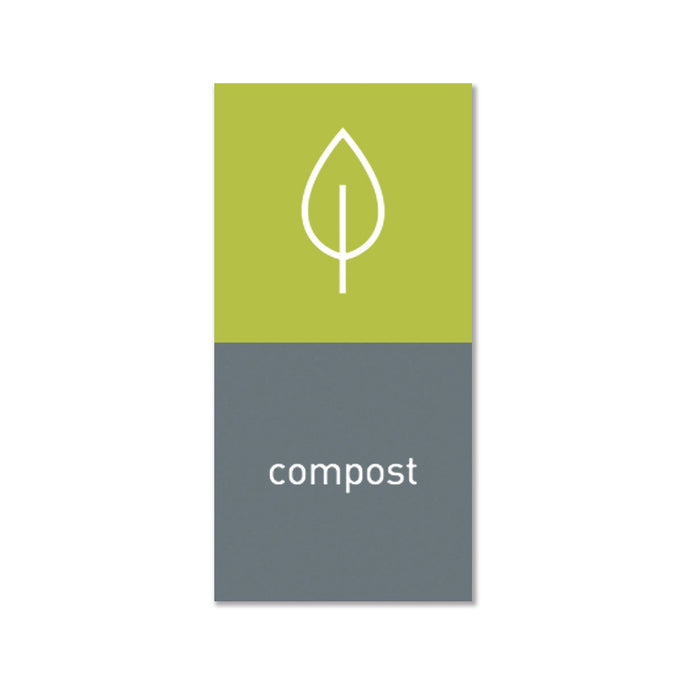 magnetic sorting label - compost - main image