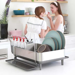steel frame dishrack - lifestyle girls in kitchen image