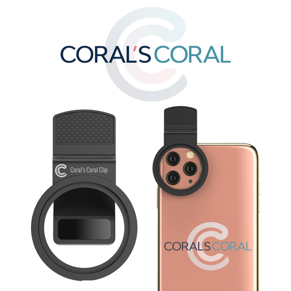 Coral's Coral Clip - Freestyle Universal Phone Clip for Lenses - fits iPhone 11 & 12 Pro