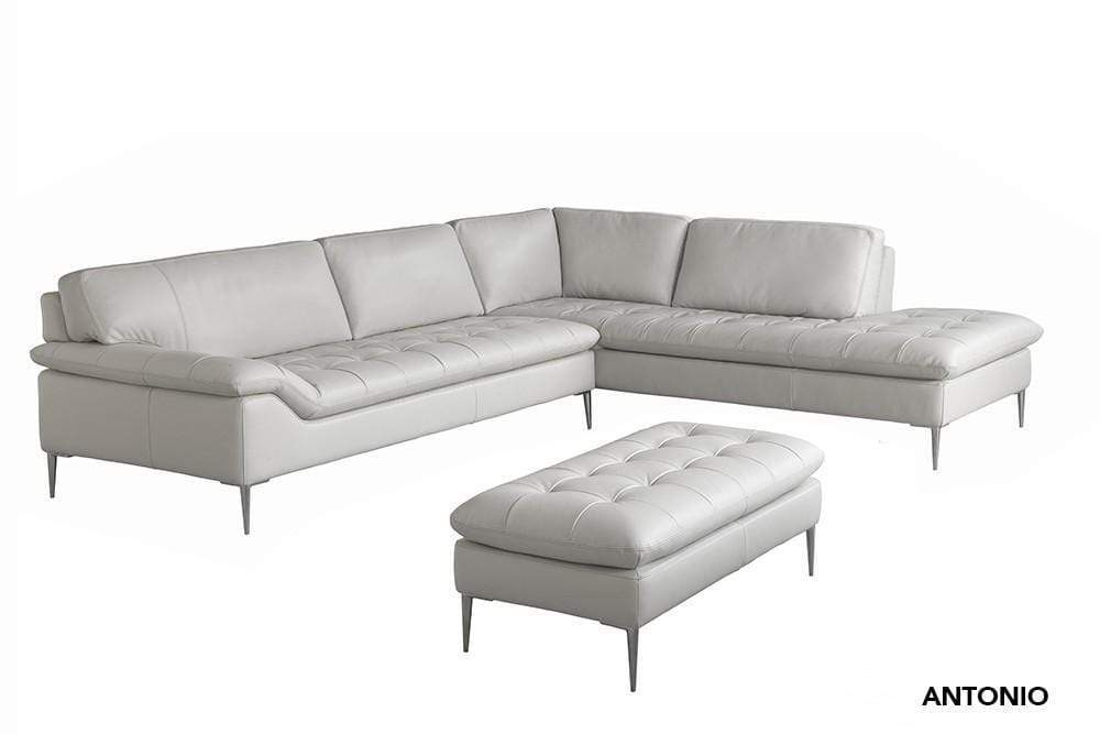 The Antonio Premium Leather Sectional Chateau D Ax Modern Furniture Nyc