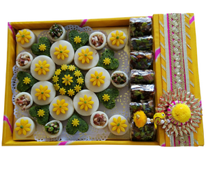 Badam Pista on Traditional Tray - Vedic Spoons