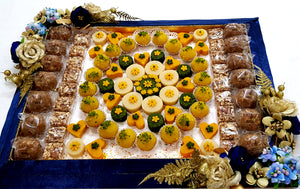 Assortment on Floral Velvet Platter