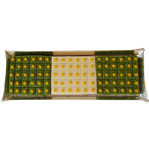 Almond & Pista squares on Silver Tray
