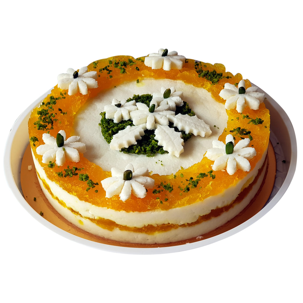 Tri Colour Sandesh Cake (for delivery in Mumbai Only)