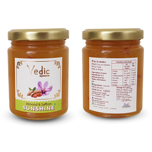 Almond Saffron Sunshine ~ 100% Natural Ingredients i.e. No Artificial Essence, Colour or Preservatives - Vedic Spoons