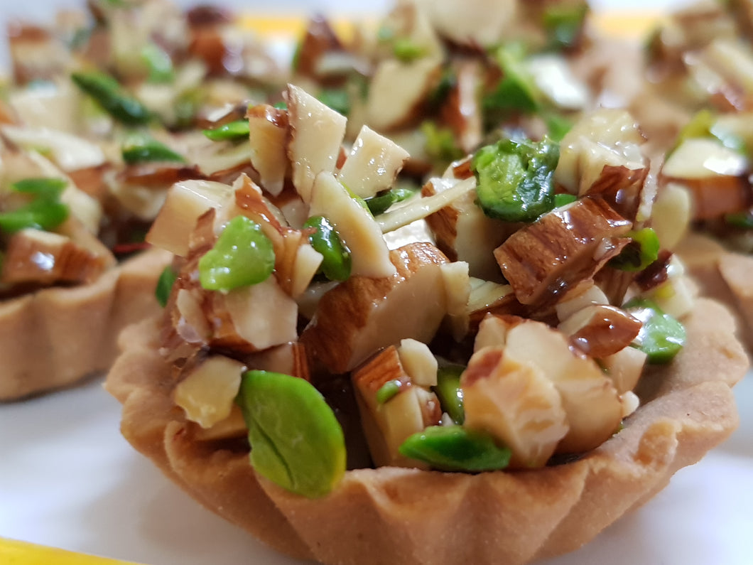 Tarts with roasted Almonds & Pistachio ( for Mumbai delivery only) - Vedic Spoons