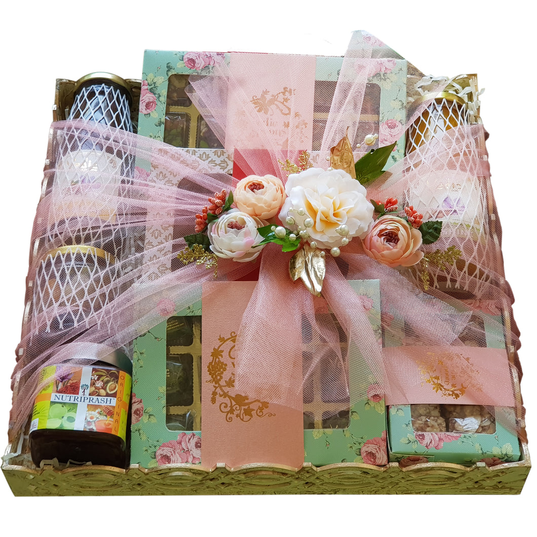 Hamper (Square Wooden Tray)