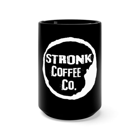 Stronk Coffee Black Mug 15oz