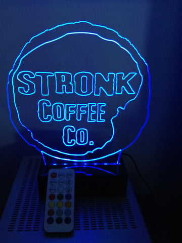 Stronk Coffee Logo LED Diodak Brand light