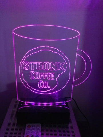 Stronk Coffee Mug LED Diodak Brand light