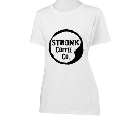Stronk Coffee Co. - Next Level White Stronk Coffee Stain Logo Tee