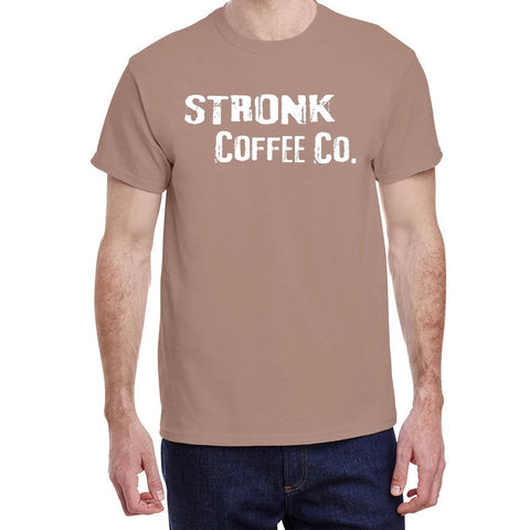 Stronk Coffee Co. - Gildan Brown Savana Stronk Logo Variation Tee