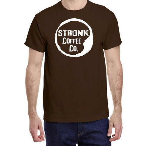 Stronk Coffee Co. - Gildan Dark Chocolate Stronk Logo Tee