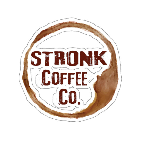 STronk Coffee Kiss-Cut Stickers