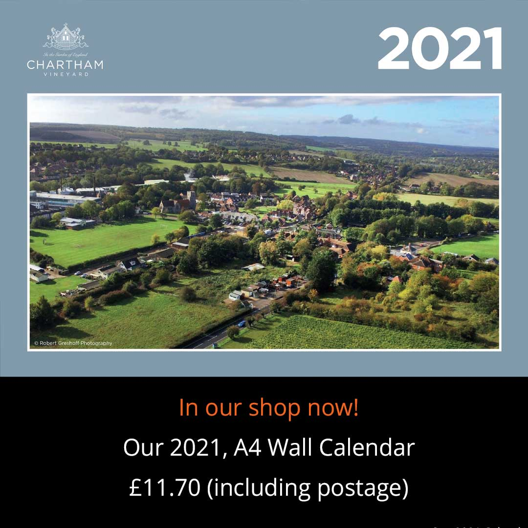 Chartham Vineyard 2021 wall calendar