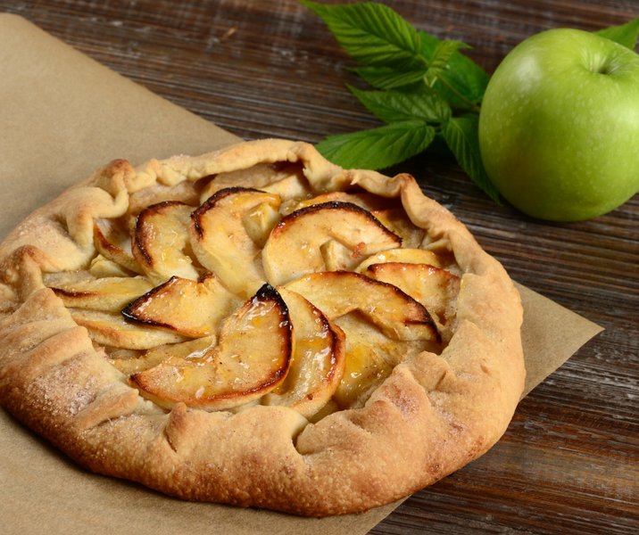 MHM Hack # 1:  Apple Crostatas Using Mother Hubbard's Plain Scone Mix