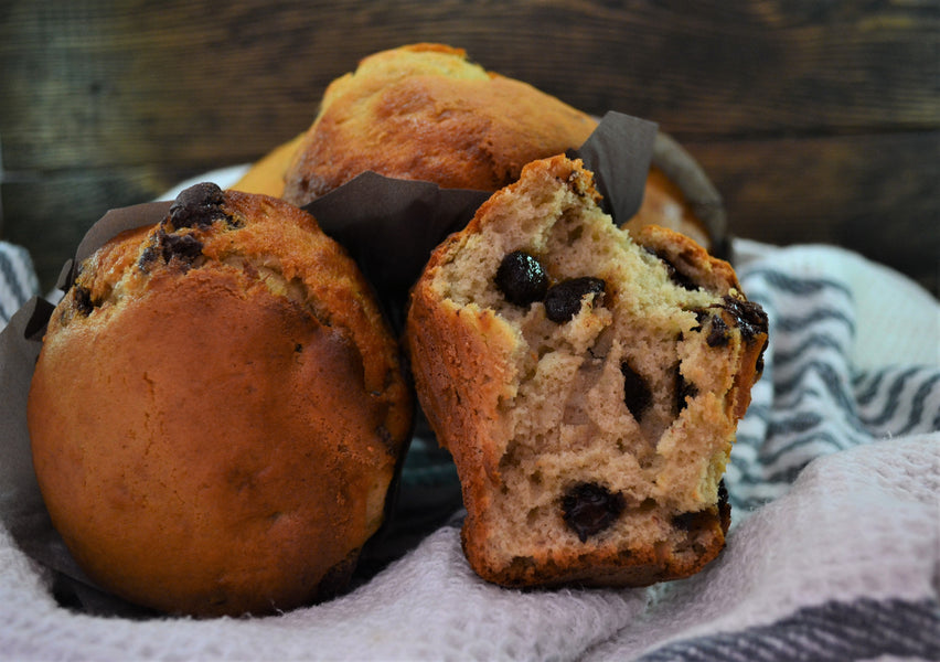 MHM Hack #8: Roasted Banana Chocolate Chip Muffins