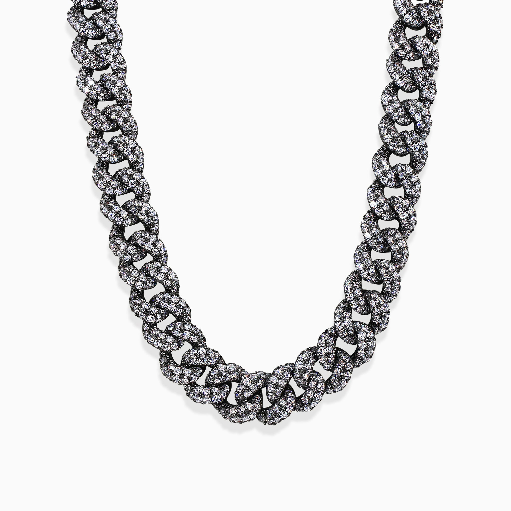 Mini Cuban Necklace - Gun Metal