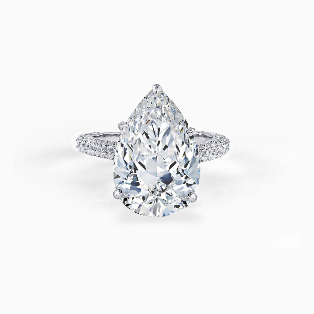 5ct Pear Cut Micro-Pavé Ring