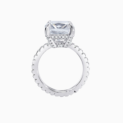 5ct Cushion Cut Micro Pavé Ring