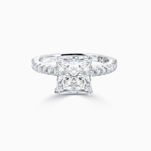 2ct Princess Cut Micro Pavé Ring