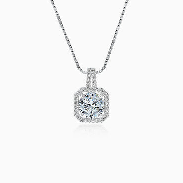 2ct Round Cut Pendant