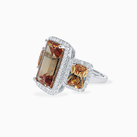 Topaz Three Stone Cocktail Ring
