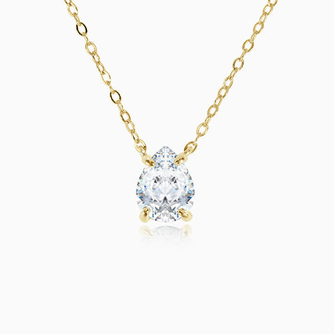 1.85ct Pear Cut Pendant - Gold